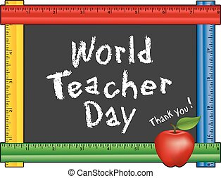 World Teacher Day, Ruler Frame, App