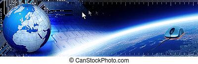 World Tech Banner - Header regarding technology and...