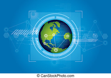 world technology background design