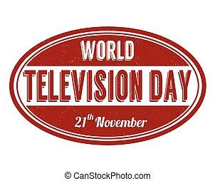 World Television Day stamp