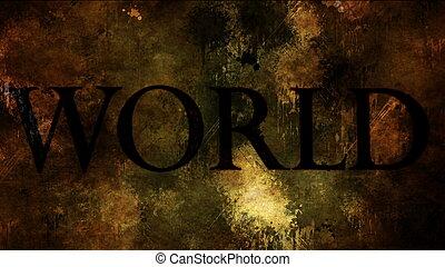 World text on grunge background