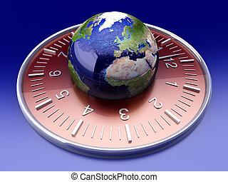 World Time - World time. 3D rendered Illustration.