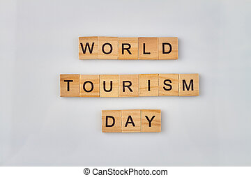 World tourism day concept.