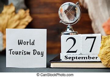 World Tourism Day of autumn month calendar september
