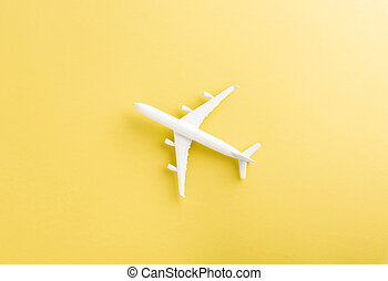 model plane, airplane with copy space
