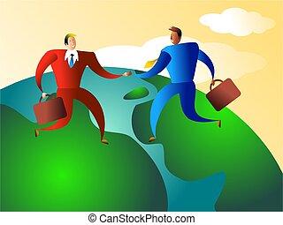 world trade - business deal