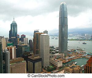 world trade center in downtown Hong Kong