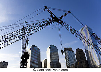 World Trade Center - Construction site of the New World...