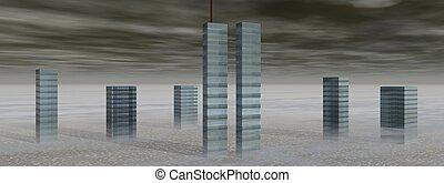 world trade center, 11.09.2001. New-York, America