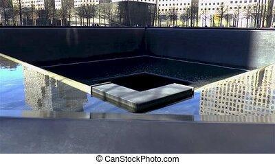 World Trade Center September 11 memorial site, New York, United States.