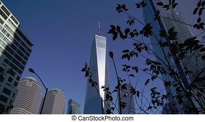 World trade center WTC in New York USA. Lower Manhattan, downtown