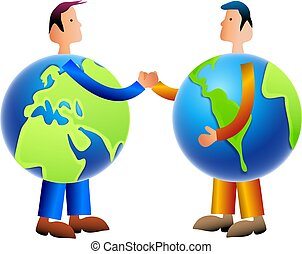 World Trade - people from different nations doing business