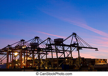 World Trade - The containers and cargo of world trade move...