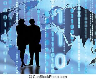 World trading - Conceptual image depicting world trading