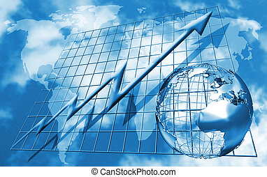 World trading - Conceptual image depicting world trading