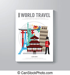 World Travel Business Book Template Design. / can be used for E-