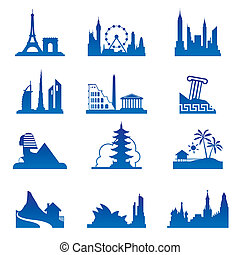 World travel destinations - vector illustration