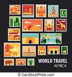 World Travel. Icons set.