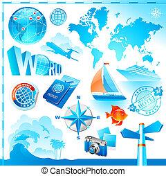 World & travel set