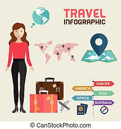 World Travel Template Design Infographic . Concept Vector illustration.