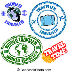 World traveler stamps