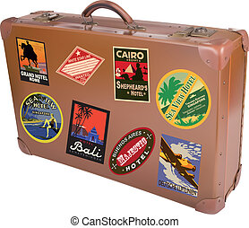 World traveler suitcase - A world traveler suitcase isolated...