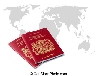 0288c8bd2 Two uk passports Illustrations and Clipart. 9 Two uk passports ...