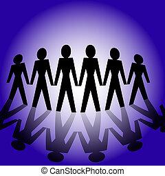 World united - Conceptual image depicting world united