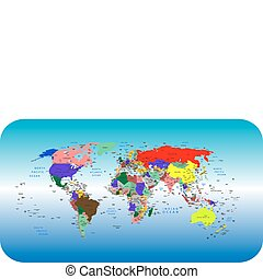 World - Vector colorful political map of the World