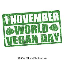 World vegan day stamp