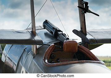 World war 1 fighter - World War 1 fighter, forward cockpit...