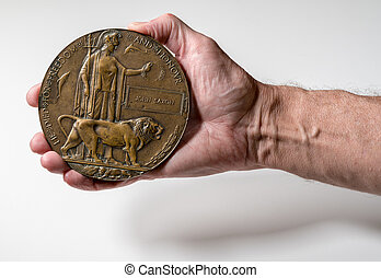 World War 1 Memorial plaque for soldier who died in 1916