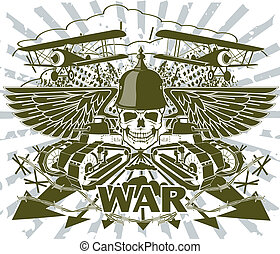World war emblem - Vector picture with the image of emblem ...