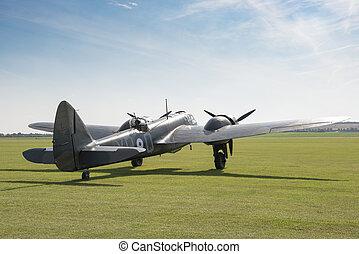 World War II-Era Bomber Aircraft on the Ground