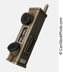World War II Hand held radio - New condition base station...