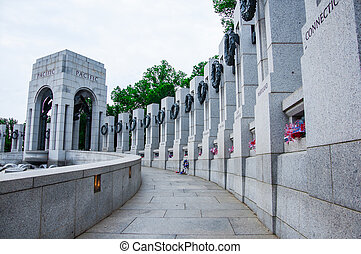 World War II Memorial, USA - WASHINGTON, D.C. - MAY 27,...
