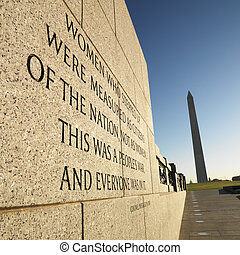 World War II Memorial. - World War II Memorial with...