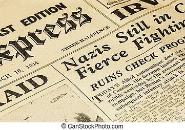 World War II british newspaper from 1944