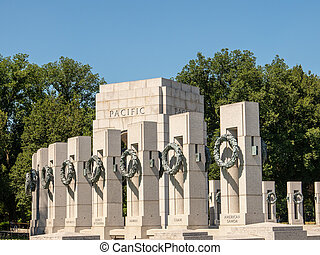World War II Pacific locations on sunny day - World War II...