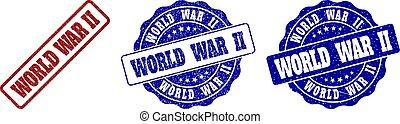 WORLD WAR II Scratched Stamp Seals