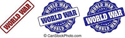 WORLD WAR Scratched Stamp Seals