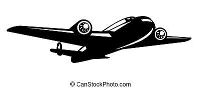 world war two bomber airplane - illustration of a world war...