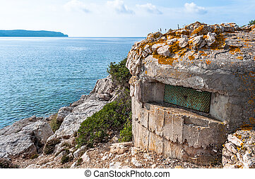 World war two bunker on the coast - World war two bunker on...
