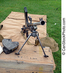 world war two machine gun - World war two british machine...