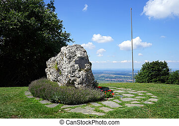 World WAr Two monument - LAUFEN, GERMANY - CIRCA AUGUST 2015...