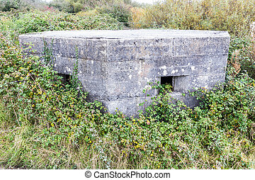 World War Two Pillbox - WWII pillbox Kidwelly, Wales, United...