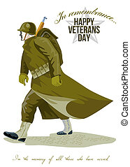 World War Two Veterans Day Greeting Card - Greeting card...