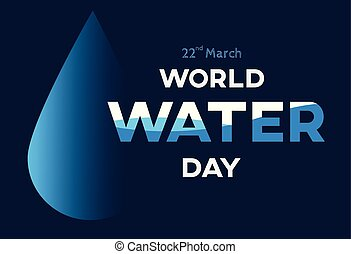 save water vector or illustration for background