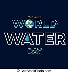 world water day white background greeting card or poster for