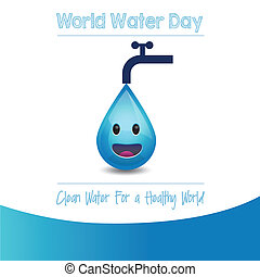 World Water Day - Vector Illustration